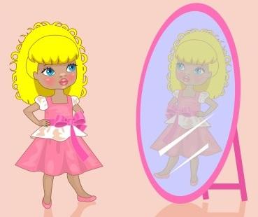 Activit manuelle pour enfant autoportrait for Regard dans le miroir