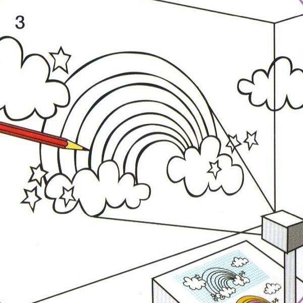 Chambre ado d co un mur en arc en ciel - Comment dessiner sur un mur de chambre ...