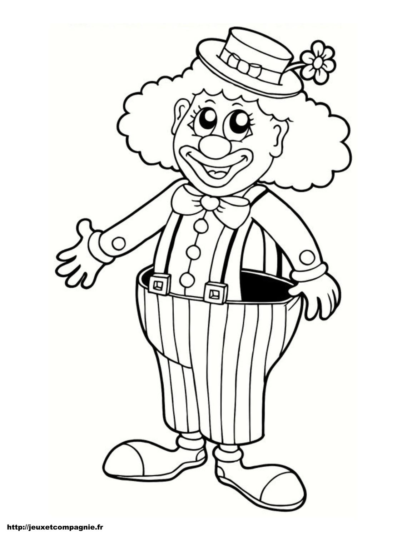 Coloriages personnages imprimer - Dessiner un clown ...