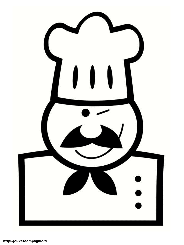 Coloriages personnages imprimer - Cuisinier dessin ...