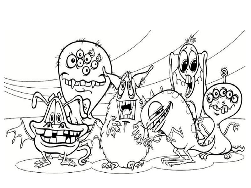Coloriages de monstres - Dessin de monstre et compagnie ...