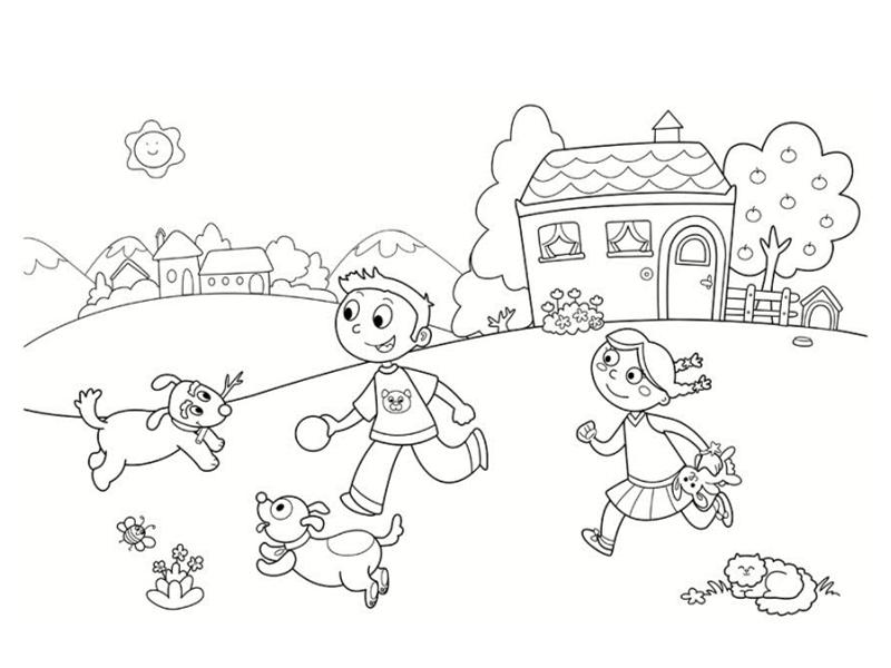 Coloriages de maisons - Enfants coloriage ...
