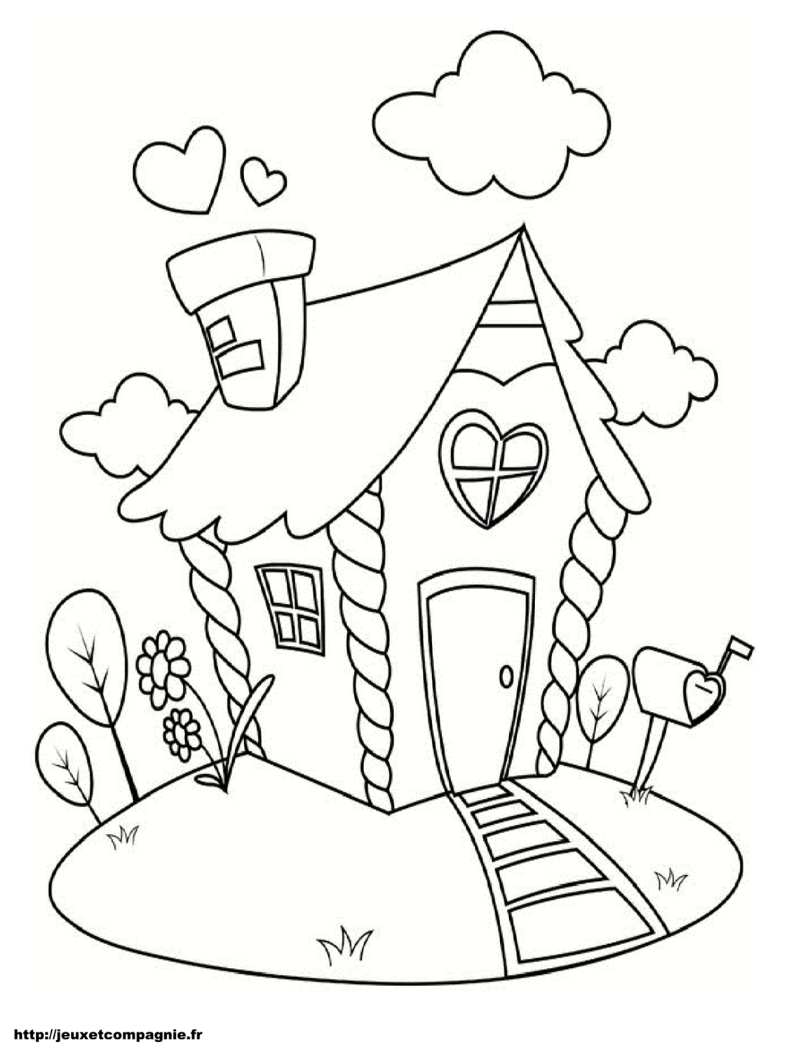 Coloriages de maisons - Coloriages a colorier ...