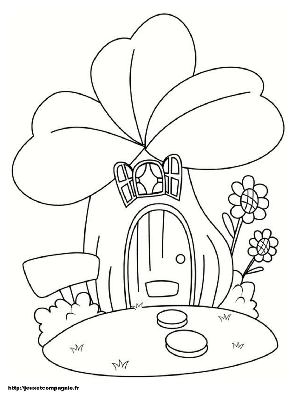 Coloriages de maisons - Coloriage la fleur ...