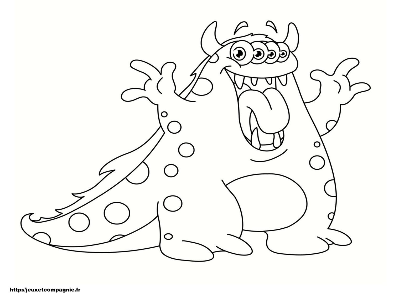 Coloriages de monstres - Monstre a colorier ...