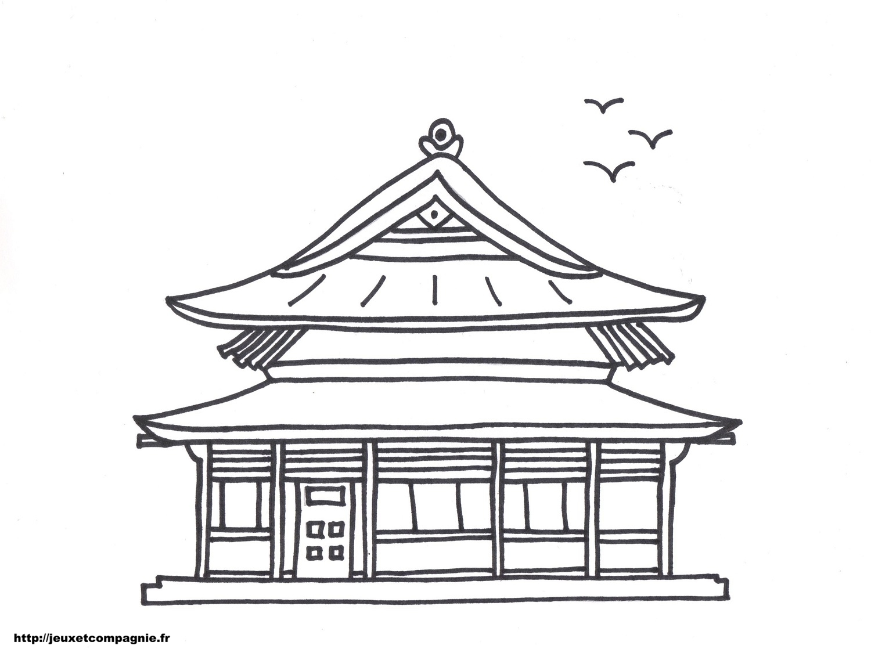Dessin maison chinoise