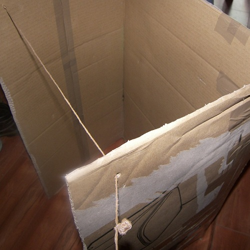 fabriquer un castelet un th tre en carton. Black Bedroom Furniture Sets. Home Design Ideas