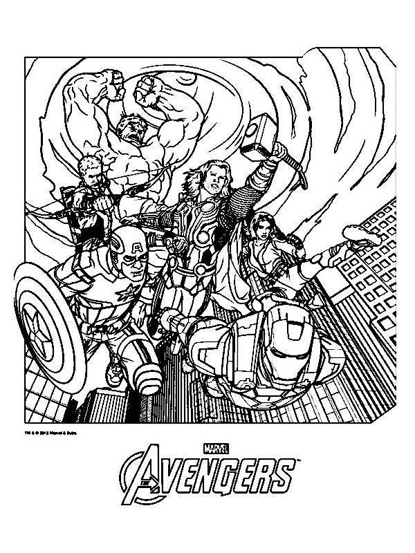 The avengers 2012 extrait coloriages avengers - Coloriage de avengers ...