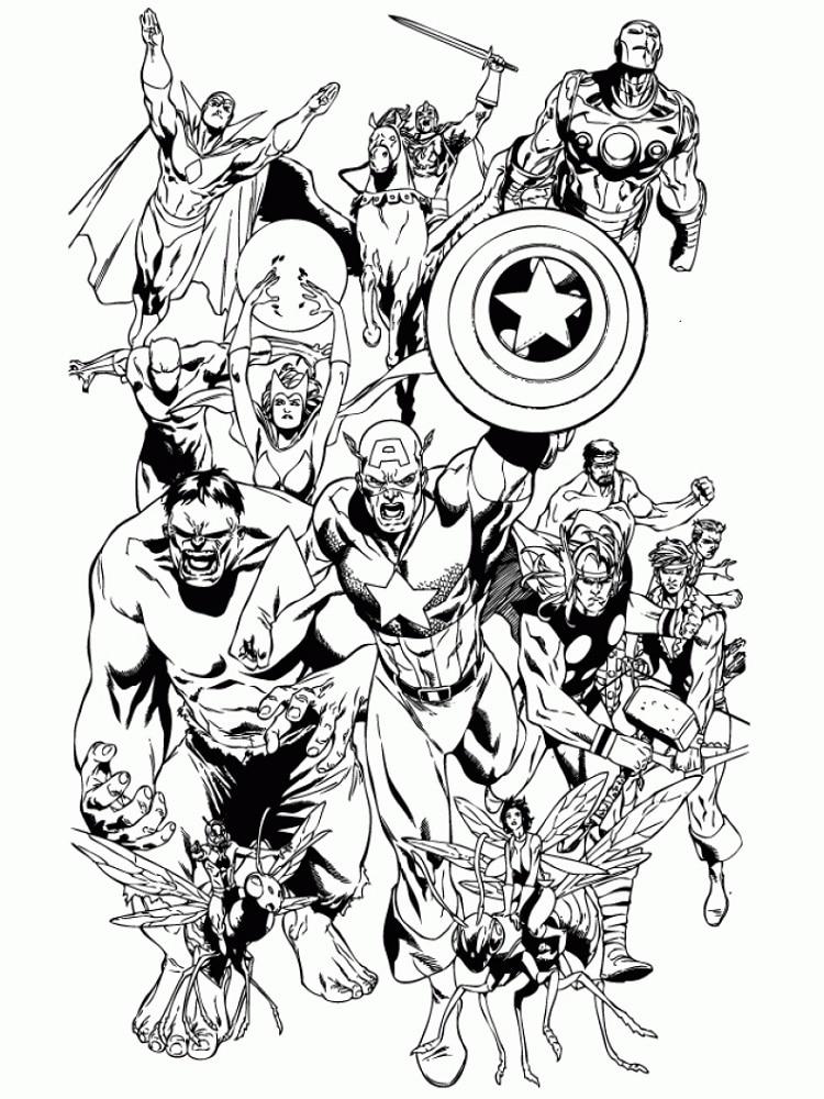 Ausmalbilder Marvel: The Avengers 2012 : Extrait + Coloriages Avengers