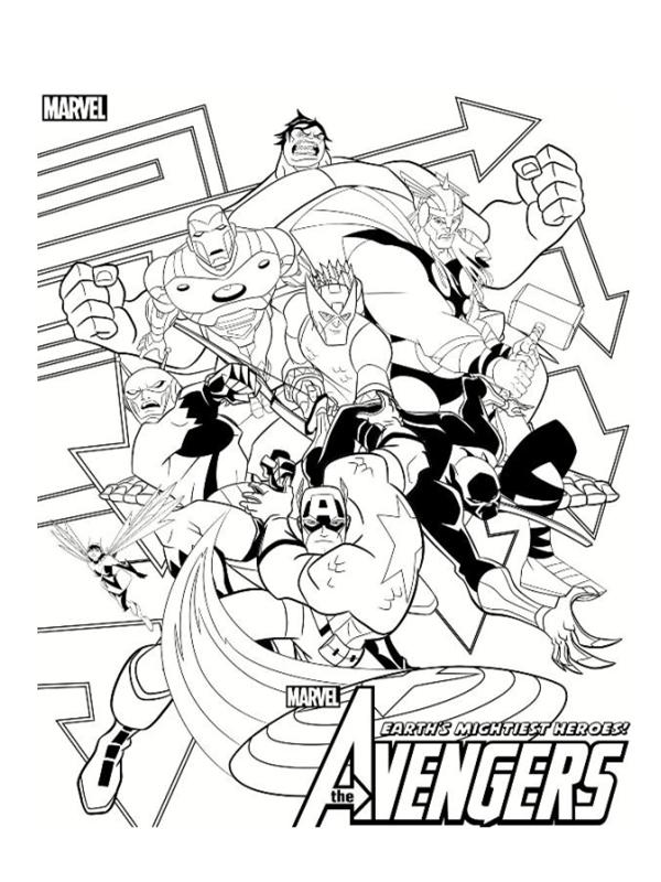 The avengers 2012 : extrait + coloriages Avengers