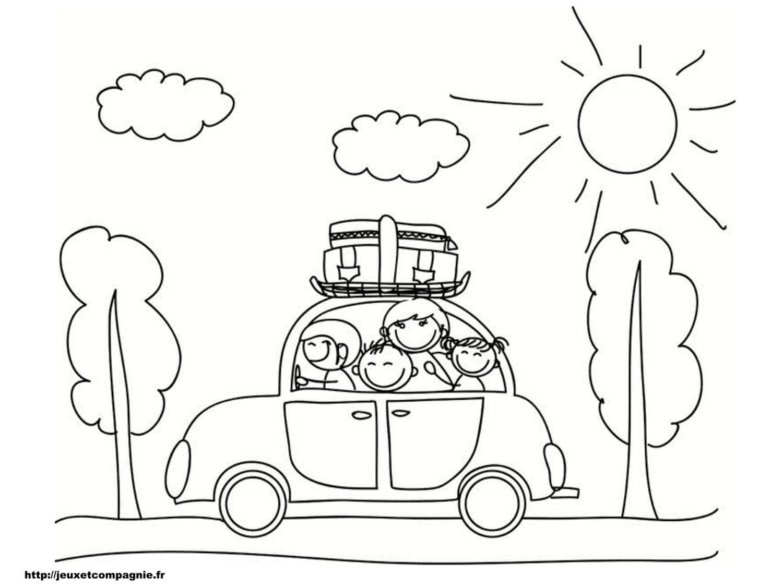 Coloriages de v hicules - Dessin d un car ...