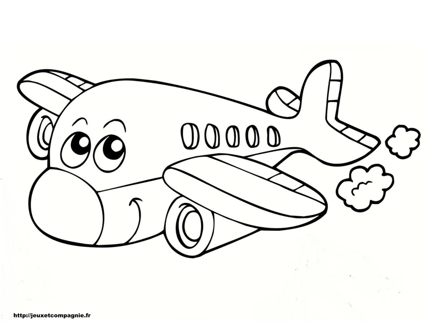Coloriages de v hicules - Coloriage avion ...
