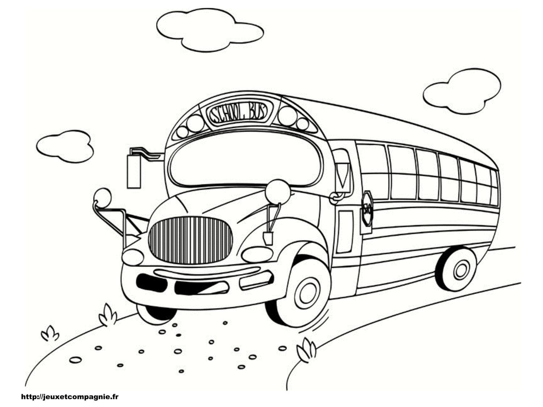 Coloriages de v hicules - Autobus scolaire dessin ...