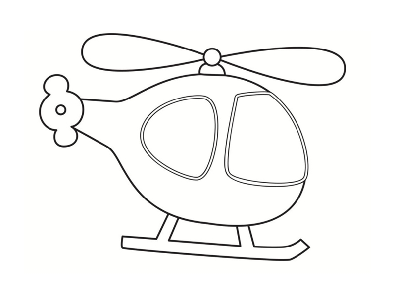 Coloriages de v hicules - Helicoptere dessin ...