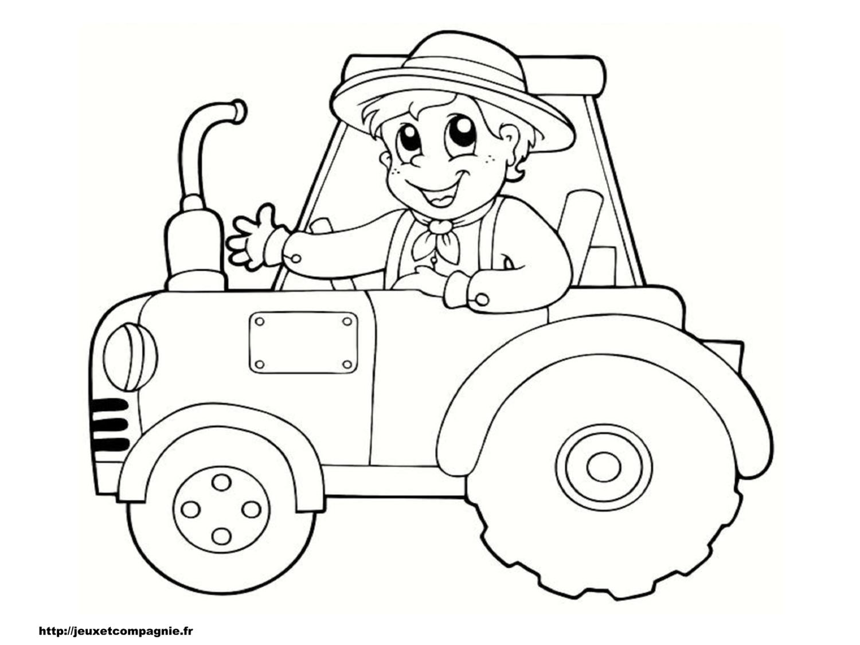 Coloriages de v hicules - Dessin de tracteur a colorier ...