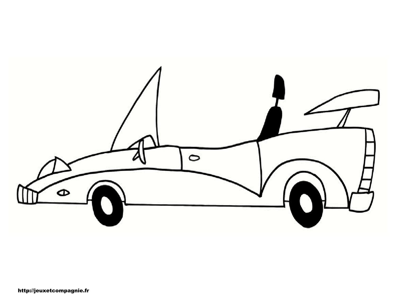 Coloriages de v hicules - Dessin voiture profil ...