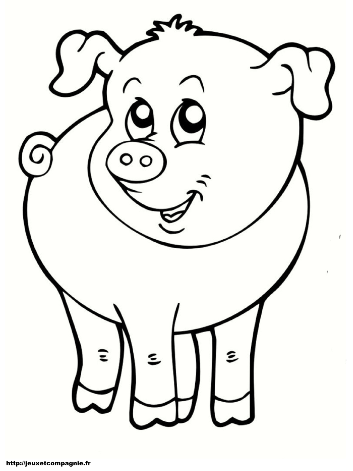 Coloriages animaux de la ferme - Photo de cochon a imprimer ...