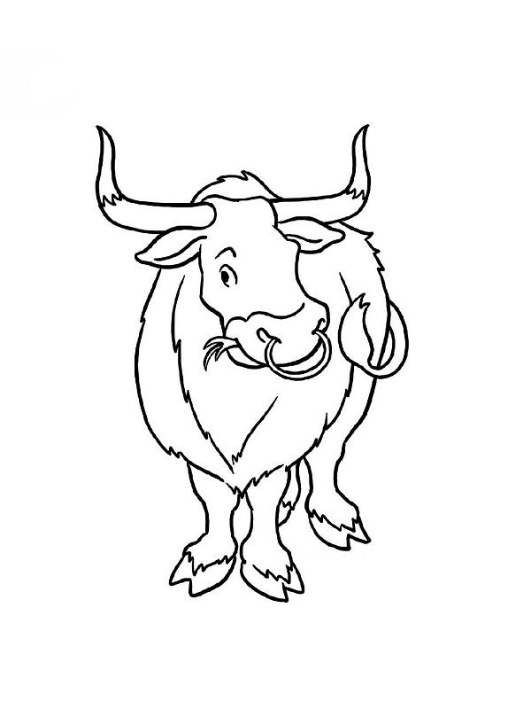 Coloriages animaux de la ferme - Dessin de toro ...