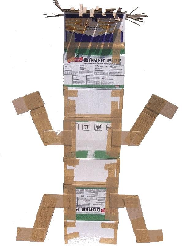 Connu Totem africain en carton DS16