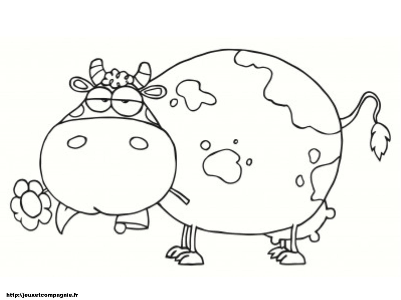 Coloriages animaux de la ferme - Vache dessin facile ...