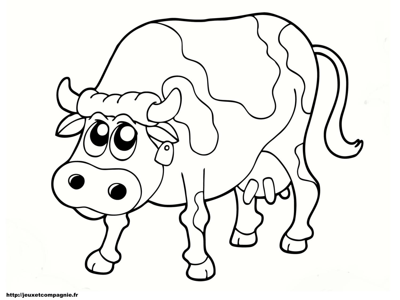 Coloriages animaux de la ferme - Vache a imprimer ...