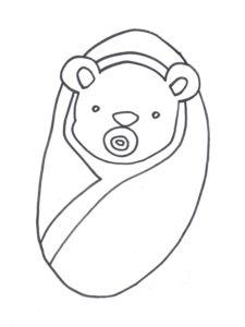 coloriage bébé nounours