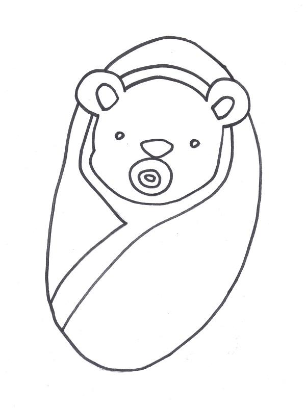 amazing coloriage nounours imprimer coloriage nounours fille dessins de nounours with dessin bb fille imprimer - Coloriage De Bb