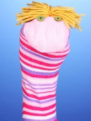fabriquer une marionnette avec une chaussette