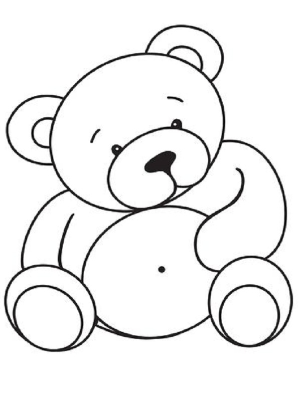 Coloriage Ourson Facile.Coloriages Nounours A Imprimer