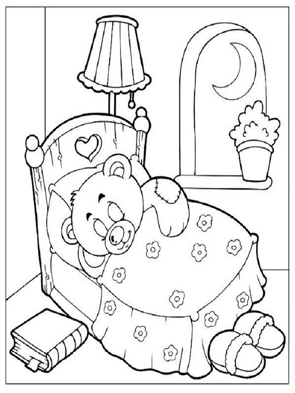 coloriages nounours - Coloriage Nounours