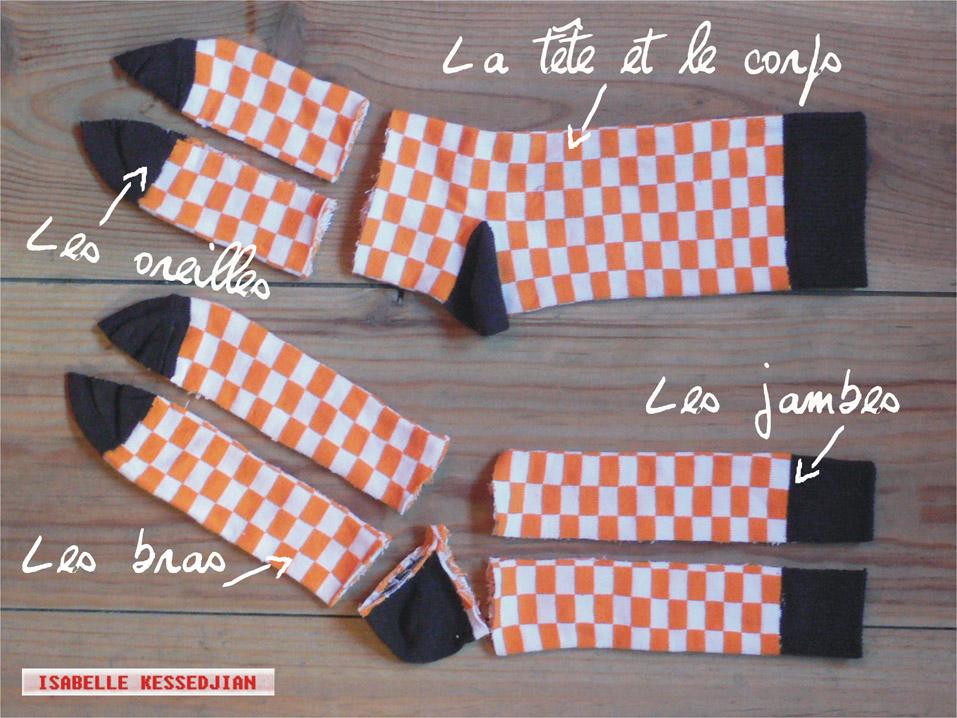 Assez Recyclage vêtement : les doudous chaussettes BB45