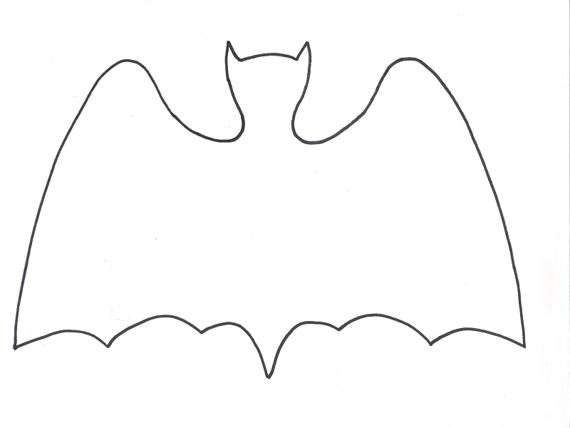 D coration halloween les chauves souris for Gabarit chauve souris a imprimer