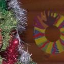 Idée calendrier Avent : couronne de l'avent «empreintes de main»