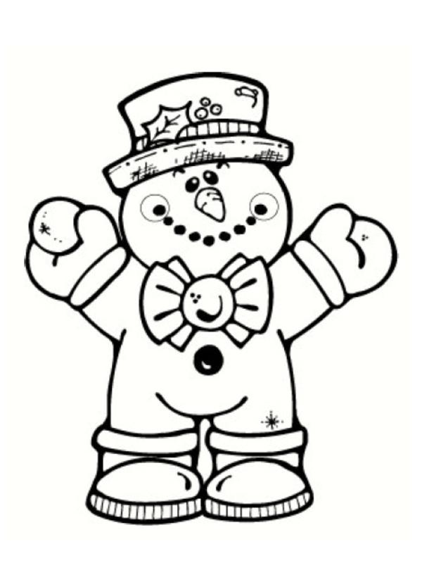 dessin bonhomme de neige