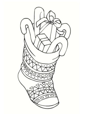 dessin chaussette noel