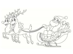 coloriage traineau noel