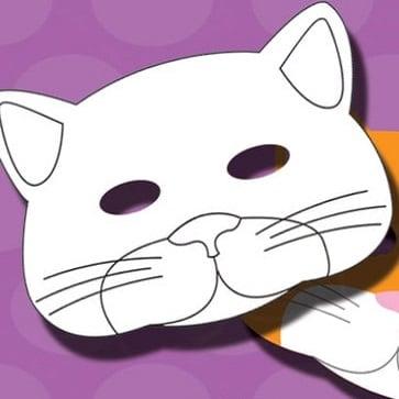 masque chat à imprimer