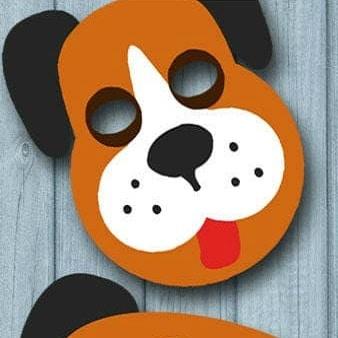 masque chien imprimable