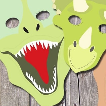 masque dinosaure à imprimer