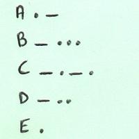 le morse en alphabet