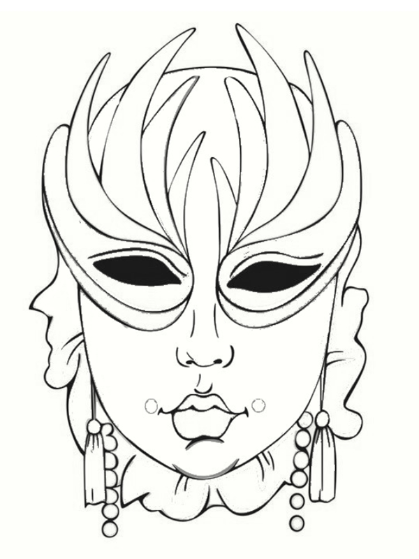 1000 images about masque carnaval on pinterest - Coloriage masque ...