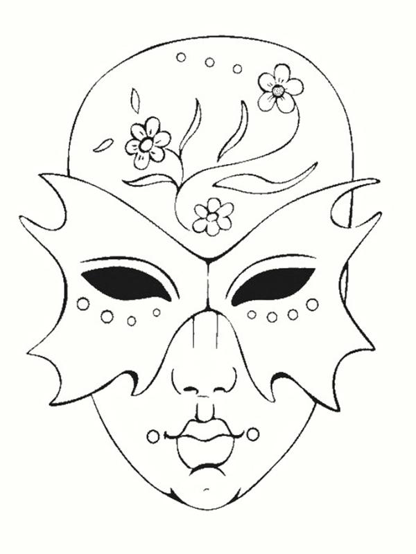 Coloriage de mardi gras - Masque spiderman a imprimer ...