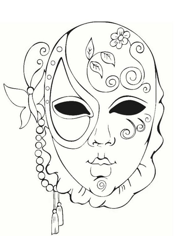 Sugar skull girl colouring page by tearingcookie on deviantart day of the dead dia de los - Coloriage masque ...