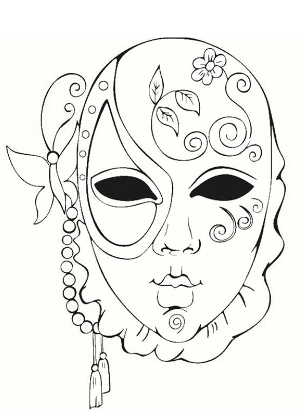 dessin masque venise carnaval