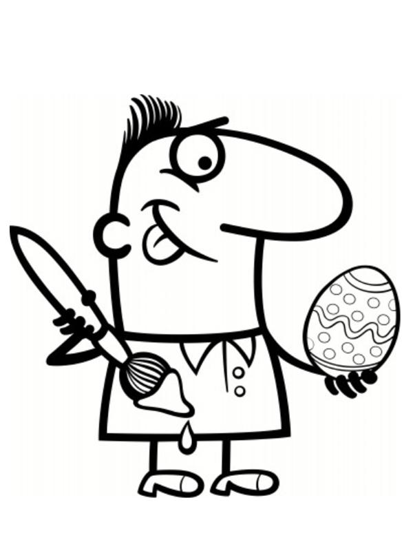 dessins à colorier pâques