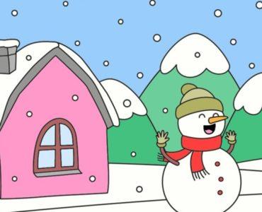 coloriages paysage hiver