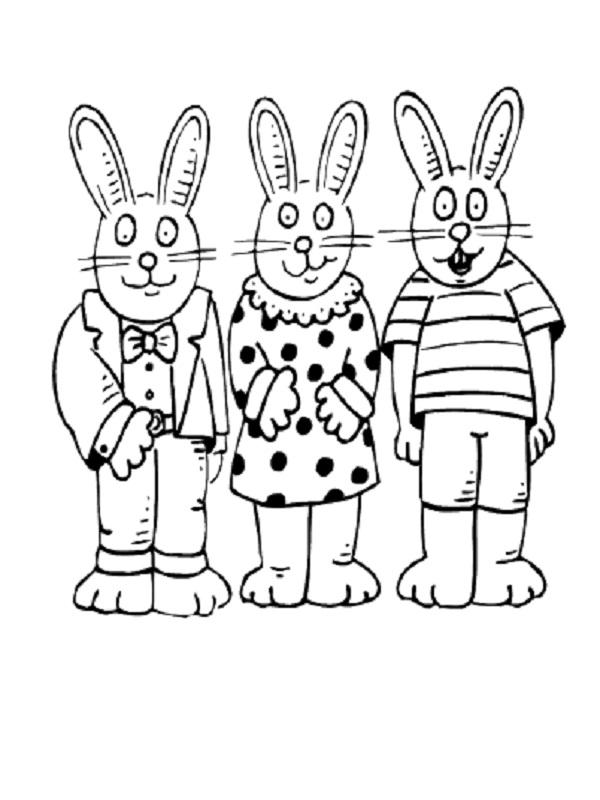 Coloriages p ques - Dessins lapins ...