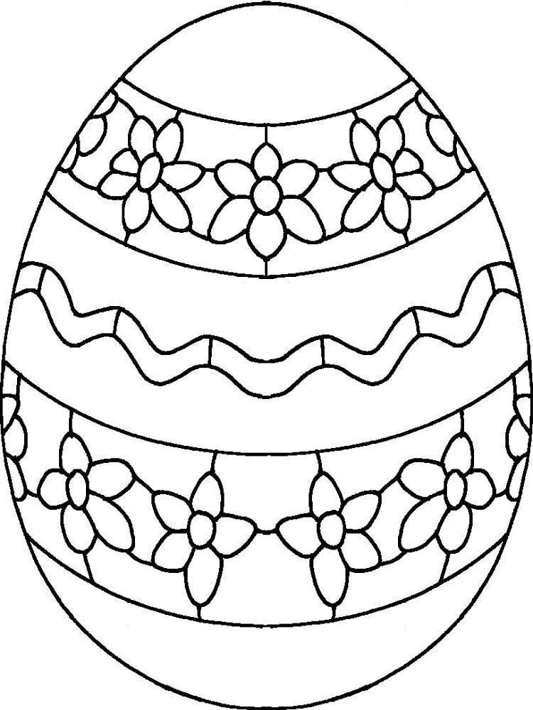 dessin oeuf de paques - Oeuf De Paques A Colorier
