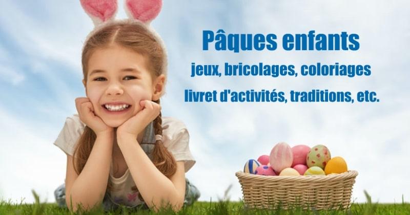 Pâques Enfants Jeux Bricolages Coloriages Livret Etc