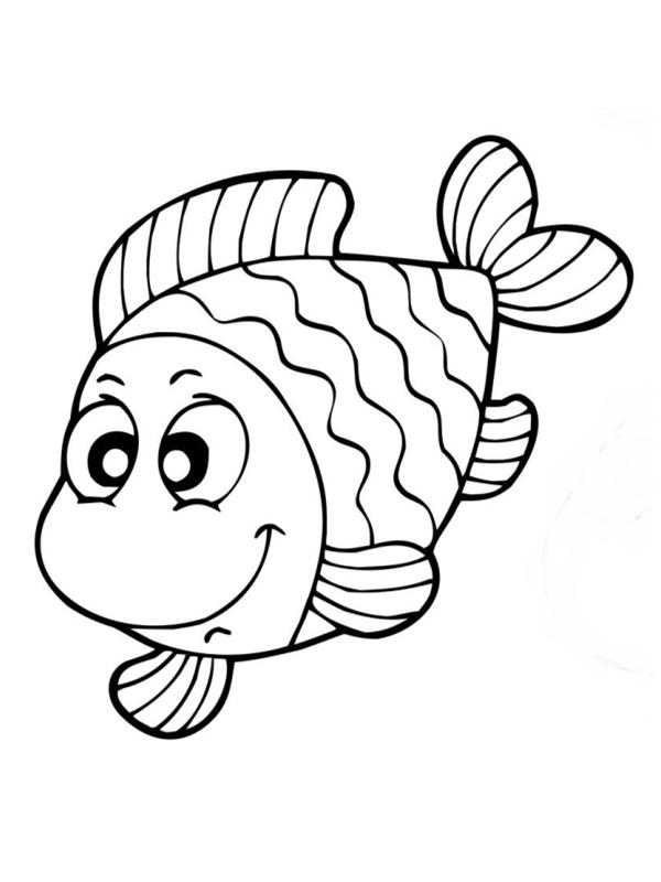 Poissons coloriages - Dessin enfant poisson ...